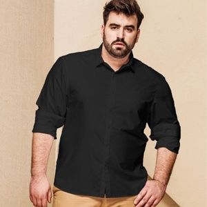 Other - New men's black dress shirt T shirt size L